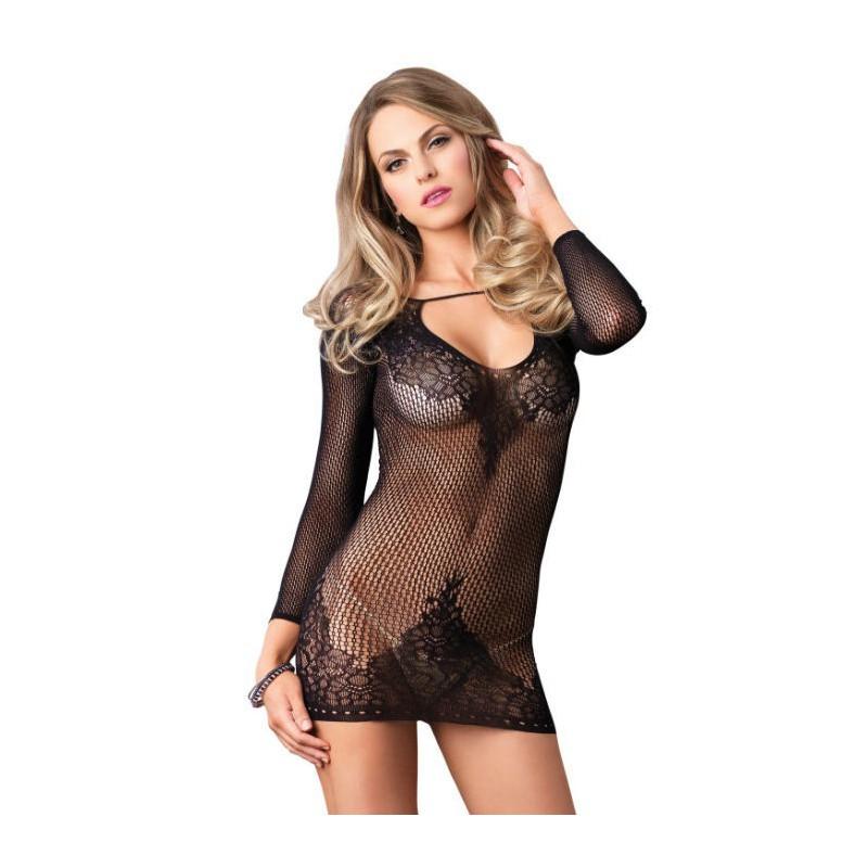 Panties de rejilla negros